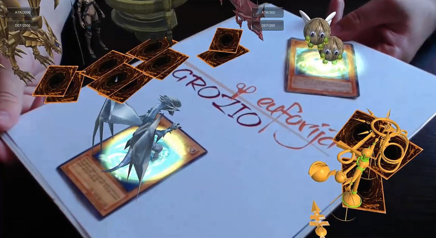 Augmented reality for yu gi oh card game