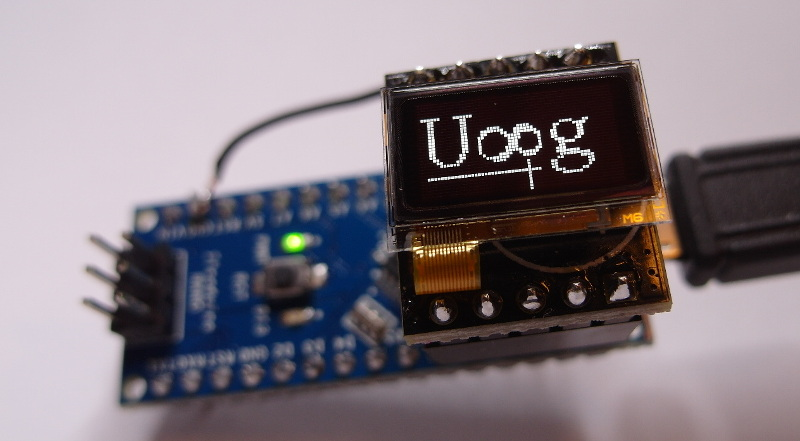 Arduino and 0.5 inch OLED LD7032, Gas Sensor MQ135