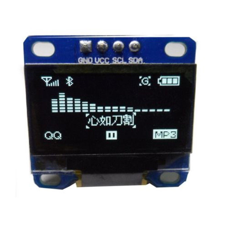 Arduino and I2C 128X64 White OLED SSD1306 LCD LED Display Module