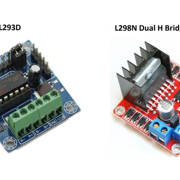 Arduino and Stepper Motor Drive Controller Shield Modules L298N and L293D