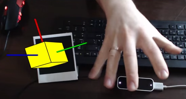 Augmented Reality and Leap Motion DEMO